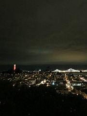 Coit Tower and the Bay Bridge (JoeGarity) Tags: sanfrancisco baybridge coittower clouds