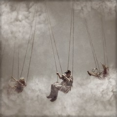 Let one dream come true (Janine Graf) Tags: carnival clouds ride dream fair swing fantasy vfx limbo vfxstudio janinegraf snapseed moderngrunge iphone5s