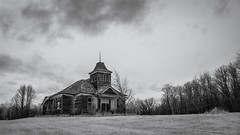 Kimberly Schoolhouse (Rodney Harvey) Tags: blackandwhite cold abandoned minnesota rural decay infrared schoolhouse
