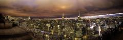 NYC - Top of the rock (vitellotonnatolovers) Tags: nyc travel panorama newyork colore panoramica empire empirestatebuilding chrysler rockefeller viaggio hdr topoftherock