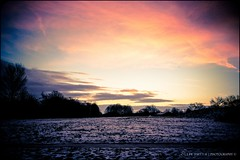 Sunrise, Snow and Silhouettes (Ollie Smith Photography) Tags: trees winter sky snow cold colour nature sunshine silhouette clouds sunrise nikon cheshire branches earlymorning frostymorning townpark lightroom runcorn 1685mm d3100