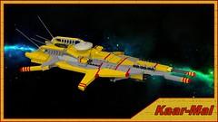 Kaar-Mal frigate (Sunder_59) Tags: ship lego space scifi spaceship homeworld frigate starship povray moc ldd tiidan