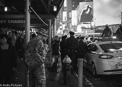 Duty (ardispictures) Tags: new york city film 35mm canon square army 50mm kodak military police nypd times 18 a2e ultramax