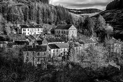 Where I live. (andymorgan636) Tags: blackandwhite monochrome southwales wales village chapel porttalbot cymmer afanvalley