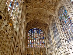 King's Chapel, Cambridge, England (A.day.in.the.life.of.C) Tags: old uk cambridge england college church window glass stain choir university king colours britain gothic grand chapel ceiling stained organ kings service posh baroque choral 2014