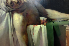 David, The Death of Marat, detail with wound