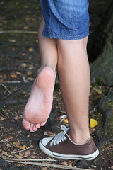 Schmutzige Fsse (49) (naw_hh) Tags: girls woman hot sexy feet socks fetish women shoes toes soft legs skin painted dirty nike used nails smell heels sniff puma sniffing adidas schuhe fsse smelling fetisch