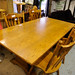 Rubberwood large dining table