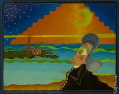 La Chanson Delafollw Au Bord De La Merch June 1985 30x24 (Dylan Straub) Tags: art artist acrylic canvas archival raystraub