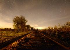 Night Train (Dave McGlinchey) Tags: uk longexposure night nikon tracks railway trains nightime nightsky nighttrain d7100 sigma1020mmf35exdchsm
