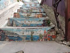 Chile - Valparaiso (Replay Lounge) Tags: world chile street travel streetart southamerica stairs painting valparaiso mural americadosul güneyamerika