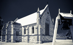 """Dunolly church and church bell • <a style=""""font-size:0.8em;"""" href=""""http://www.flickr.com/photos/44919156@N00/15902180532/"""" target=""""_blank"""">View on Flickr</a>"""