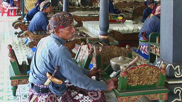 Indonesia - Java - Yogyakarta - Kraton - Museum - Gamelan Musicians - 6
