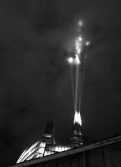 Shooting Shard (Dun.can) Tags: xmas blue light london tower night blackwhite nightshot borough shard lightshow southwark se1 theshard