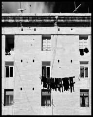 Hung Out To Dry (albireo 2006) Tags: blackandwhite bw blackwhite mediterranean malta pb nb bn laundry valletta socialhousing blackandwhitephotos hungouttodry blackwhitephotos v18 valletta2018