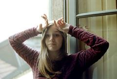 (Erica Pozza) Tags: city winter portrait urban italy woman selfportrait film window girl self 35mm canon donna italia finestra urbano canona1 inverno ritratto ragazza citt pellicola