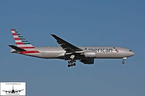 N794AN B777-223ER c/n 30256 American Airlines (EGLL) 28/12/2014