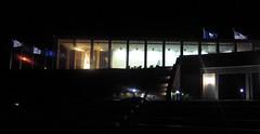 "VA War Memorial - ""Shrine of Memory"" building (d1pinklady) Tags: moon reflection building statue liberty virginia memorial war shrine downtown great richmond flame torch capitol va memory spaceship flintstones kazoo eternal"