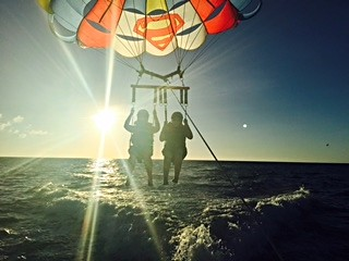 Me and Mom parasailing