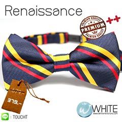 Renaissance - หูกระต่าย ลายเฉียง สี น้ำเงิน คาด เหลือง แดง Premium Quality