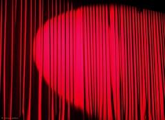 Spotlight (louise peters (busy buying a new home)) Tags: show red amsterdam theater theatre stage spotlight rood voorstelling delamar toneel doek stagecurtain zoeklicht toneelgordijn