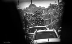 Junk Truck (FleetingEye) Tags: street city people blackandwhite man men cars window truck outside workers cityscape dof international jamaica vendor junkyard streetscape streetvendor montegobay 2014