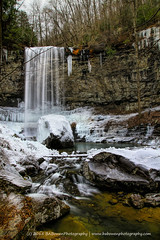 hemlock falls portrait (B A Bowen Photography) Tags: winter ice georgia waterfalls icicles naturephotography waterscapes landscapephotography dadecounty cloudlandcanyonstatepark babowenphotography
