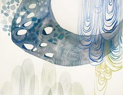 (Kondor Vali) Tags: blue original abstract watercolor painting landscape grey aquarelle asteroid aquarela kondorvaleria