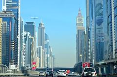 Dubai amazing motorway (fabriziocaradonna) Tags: tower cars modern dubai motorway emirates unitedemirates