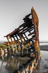 Wreck of the Peter Iredale (Chris Parmeter Photography (smokinman88)) Tags: park reflection texture beach metal oregon geotagged sand nikon rust iron ship fort decay stevens peter wreck iredale d810
