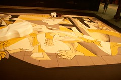 Guernica replica in sand (Val in Sydney) Tags: sand sydney australia picasso nsw biennale redfern guernica australie carriageworks