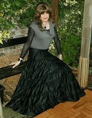 Style Change (Amber :-)) Tags: black long skirt crossdressing tgirl transvestite satin tiered