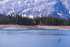Balance (hey ~ it's me lea) Tags: lake canada mountains kananaskis alberta upperlake kcountry paddleboarding