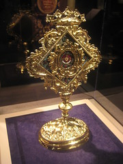 A receptacle or repository for relics, especially  relics of saints (goldiesguy) Tags: vatican statue museum artwork statues ronaldreaganlibrary vaticansplendors goldiesguy