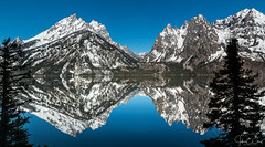 Jenny Lake Reflection Pano   Grand Teton National Park (John Clay173) Tags: morning mountains reflection sunrise spring wyoming jacksonhole grandtetonnationalpark gtnp jclay