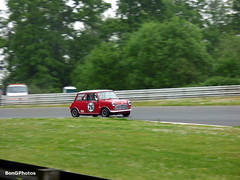 1964 Austin Mini Cooper S (BenGPhotos) Tags: red classic cars car sport festival race austin mini s racing historic ron cooper british motor hatch masters touring brands 1964 motorsport autosport 2016 pre66 maydon