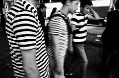 stripes (RU333333chang) Tags: blackandwhite bw monochrome stripes nightphoto  streetsnap ricohgr2