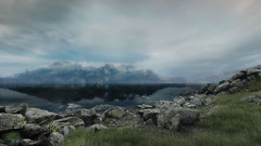 VOEC - 012 (Screenshotgraphy) Tags: bridge sunset mountain lake game nature water colors contrast forest landscape soleil screenshot gare lumire lac ethan steam gaming beaut carter concept paysage vanishing campagne foret beautifull jeu naturelle urbain