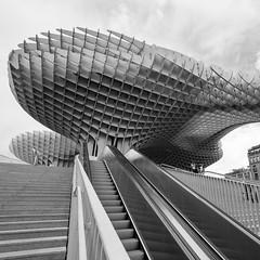 Escalator to clouds (RaminN) Tags: architecture wooden spain seville structure jrgenmayer metropolparasol lassetasdelaencarnacin laencarnacinsquare incarnacinsmushrooms