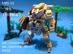 MBS-02V1Hummingbird (CAT WORKER) Tags: lego military mech moc