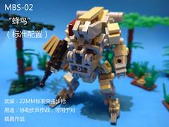 MBS-02V1Hummingbird (CAT WORKER) Tags: lego military mech moc