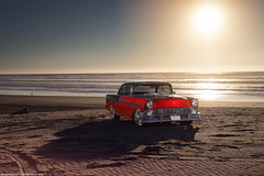 1956 for Super Chevy Magazine (Richard.Le) Tags: sunset red hot classic beach sunrise magazine photography muscle sony automotive super le american richard editorial rod 1956 pismo heavy feature profoto a7r