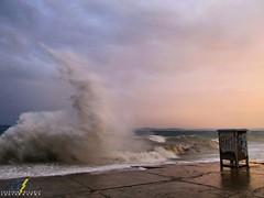 Storm (bilusickr) Tags: wave waves jugo sea sky storm summer sunset split dalmatia croatia