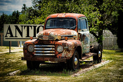 The Lovely Diane (HTT) (13skies) Tags: show old classic vintage drive sitting display rusty tires diane rusted antiques patina htt stratfordon happytruckthursday