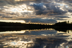 Friday evening 10th june (grus_p) Tags: sunlight sunset light luminanceborale landscape lake summer sky water clouds calmness colours finland nature nikon