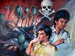 Opium Art - Mong La, Shan State, Myanmar (Harri Suvisalmi) Tags: art painting rebel burma myanmar shan opium musem autonomy mongla