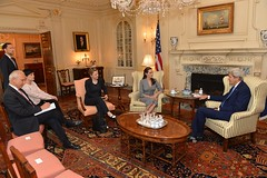 Secretary Kerry Meets with UNHCR Special Envoy Jolie Pitt (U.S. Department of State) Tags: refugees angelinajolie johnkerry