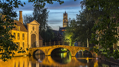 Brujas/Brugge (pelayoavs) Tags: night long exposure larga exposicin brugge brujas noche agua water bridge puente