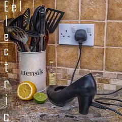 Electric Eel (archie.logical) Tags: texture electric fruit photoshop cord shoe lemon heel lime fujix xt10