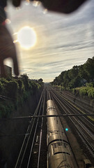 06/07/2016 day 318 : train for the sun (shaye.photo@yahoo.fr) Tags: travel light sunset sky sun paris weather train landscape outdoors railway sunny system transportation figurine miss meteo iphone project365 365days 500px 365photos iphonephoto missmeteo ifttt iphone6s